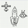 Action With Sketchup Rodeo In Space-Shuttle